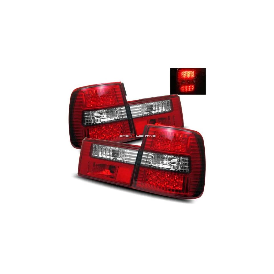 89 95 BMW E34 LED Tail Lights   Red Clear