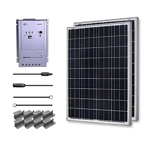 Renogy 200 Watt 12 Volt Polycrystalline Solar Starter Kit w/ 40A MPPT Charge Controller (Starter Solar Panel Kit compare prices)