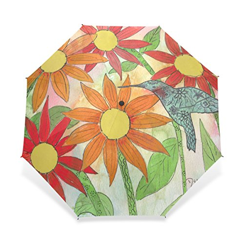 JSTEL Compact Windproof and Portable Durability Travel Foldable Rain Umbrella for Easy Carrying Sunflower Hummer Pattern (Hummer Umbrella compare prices)