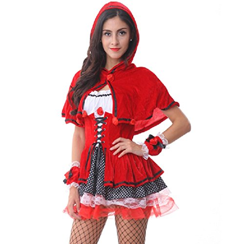 Christmas Little Red Riding Hood Dress Princess Dress Cosplay Uniform Temptation