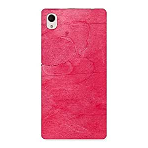 Pink Wood Work Multicolor Back Case Cover for Xperia M4 Aqua