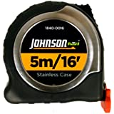 Johnson Level & Tool 1840-0016 Tape Measure Big J, 16-Feet