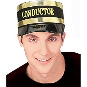 Conductor Hat Economy, One Size(Black)
