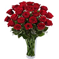 SALE! 40% OFF 24 Long Stem Red Roses…
