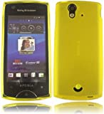 Gel Shell Case Cover For Sony Ericsson Xperia Ray ST18i / Yellow