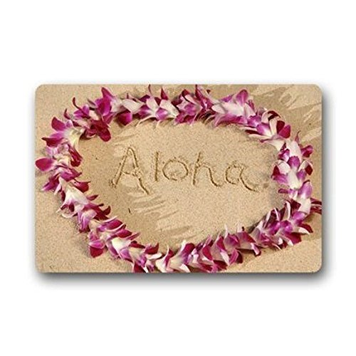 Heymat-Custom-Door-Mat-Hawaiian-Flower-Garland-Aloha-Ummer-Beach-Door-Mat-Rug-IndoorOutdoor-Mats-Welcome-Doormat