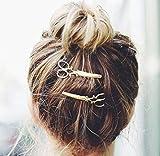 cuhair 2Punk Schere Metall Design für Mädchen Haar Clip Haarspangen