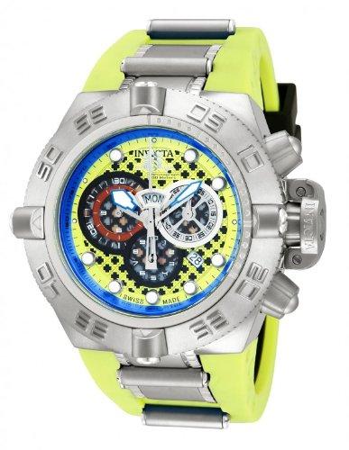 Mens Invicta 10976 Subaqua Noma IV Puppy Edition Swiss Made Quartz Chronograph Lime Green Strap Watch