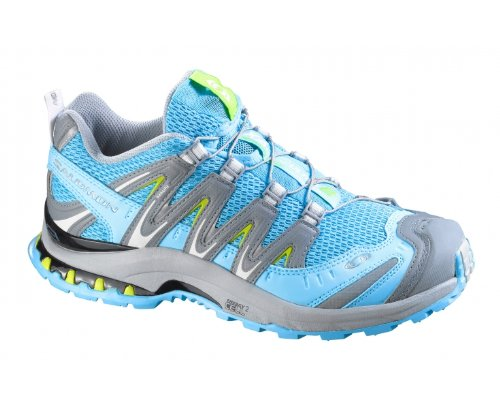 SALOMON XA Pro 3D Ultra 2 Ladies Trail Running Shoes, Blue/Grey, US12