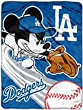 LOS ANGELES DODGERS MLB MICKEY MICRO RASCHEL (46IN X 60IN)