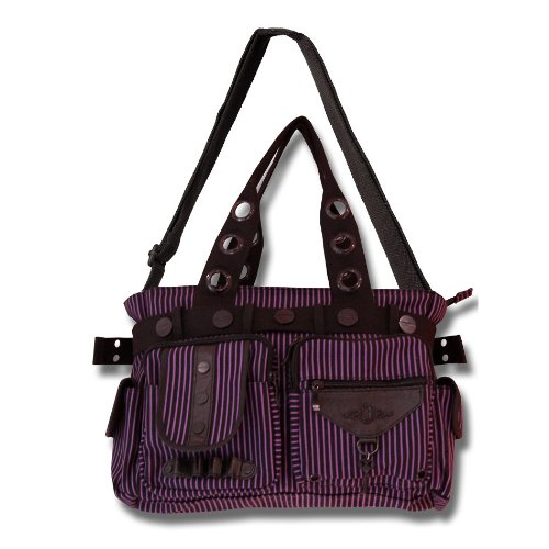 Banned Handbag STEAMPUNK KEY black-purple
