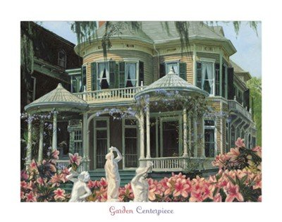 Garden Centerpiece Beautiful MUSEUM WRAP CANVAS Print with Added BRUSHSTROKES Gregory Myrick 28x22