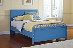 Bronelly Metro Modern Blue Full Size Bed