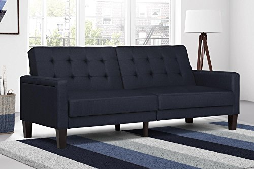 dhp-paris-futon-with-independently-encased-coils-navy