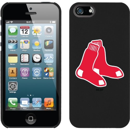 Great Price Boston Red Sox - 2 Red Sox design on a Black iPhone 5s / 5 Thinshield Snap-On Case by Coveroo