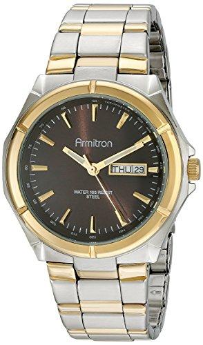 Reloj para hombre e instrucciones para hacer vestidos Armitron, pulsera dos-tono