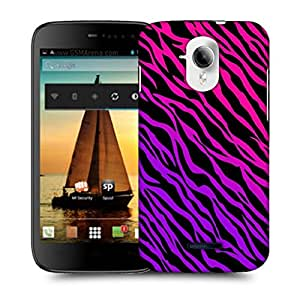 Snoogg Pink Zebra Designer Protective Back Case Cover For MICROMAX A117