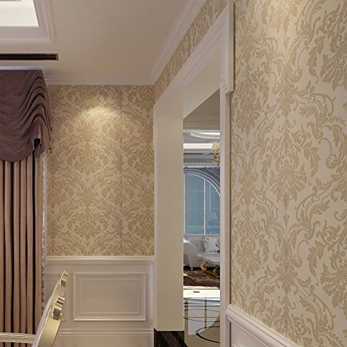 hanmero mustertapete europa barock vliestapete beflockung vergolden relief 0 53 10m 5farben f r. Black Bedroom Furniture Sets. Home Design Ideas