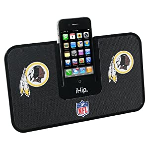 iHip NFL Washington Redskins Portable IDock with Wireless Remote (Black)