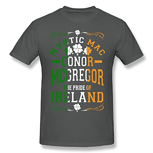 Grossbull Men's Conor McGregor Flag Tee Shirt Black Medium