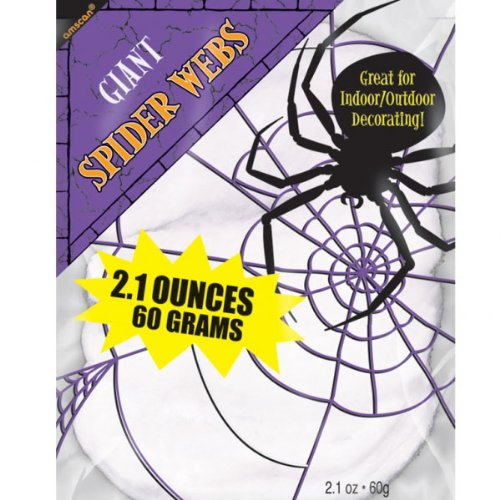 Halloween Decorations - Spider Webs - 2.1 Ounces