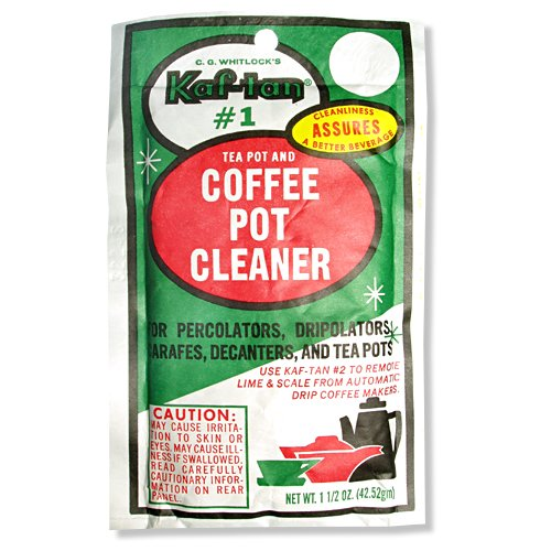 Coffee Pot Stains Cleaning : Kaf-Tan #1 Coffee Pot Cleaner/Stain Remover, 1.5 Ounce Packet Buy Small Appliances Online