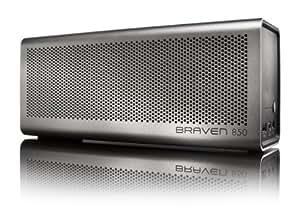 BRAVEN 850 Wireless Bluetooth Speaker [20 Hour Playtime] - Silver