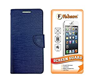 Fabson Screen Guard & Flip Cover for Samsung Galaxy Note 5 Flip Cover Case - Blue