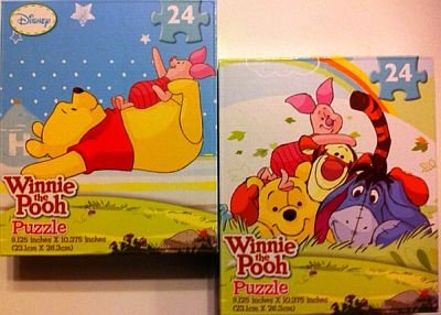 Disney Winnie the Pooh 24-Piece Jigsaw Puzzle - Assorted Designs - One Puzzle - 1