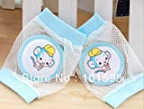 readycor (TM) bebé seguridad rodilleras Niños malla calcetines calentador de pierna almohadillas codo bebé gatear pantalla 2pares/lot S Blue