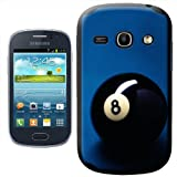 Lucky Magic Black Pool Ball Number 8 Hard Case Clip On Back Cover For Samsung Galaxy Fame S6810