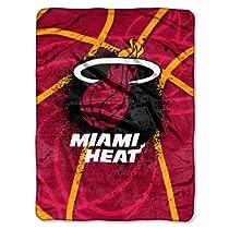NBA Miami Heat Shadow Play Royal Plush Raschel Throw Blanket, 60x80-Inch