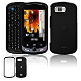 "Black ""Rubber Feel"" Hard Accessory Faceplate Case Cover for Samsung Moment M900"