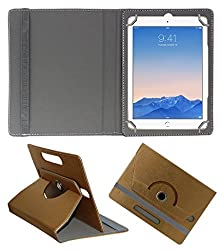 Acm Designer Rotating 360° Leather Flip Case For Apple Ipad Air 2 Tablet Stand Premium Cover Golden