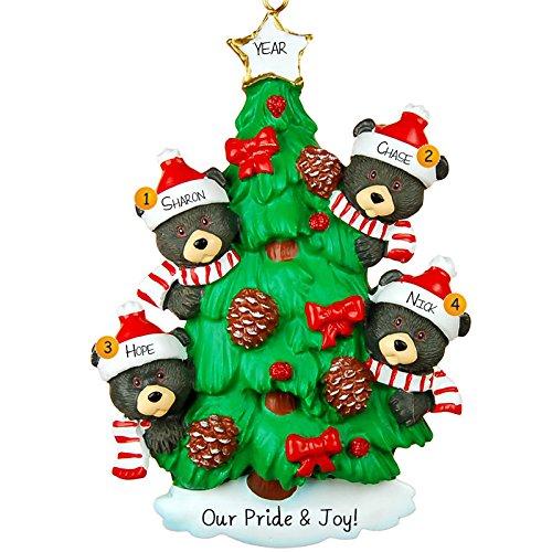 Bear Tree/4 Personalized Ornament