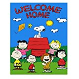 Welcome Home Cartoon Vinyl Home Decor PVC Wall Sticker ( PVC Plastic Sticker , 28 Cm X 12 Cm)