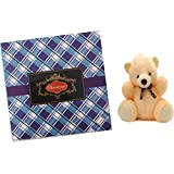 Stylish 50gms Chocolate Check Blue Box With A Cute Teddy- Dry Fruit Collection - B01ADMFVVW