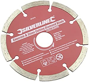 Silverline 394979 Concrete and Stone Cutting Diamond Blade 115 x 22.2mm