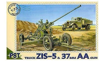 Canon anti-antiaérien de 37mm avec camion ZIS-5