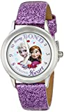 Disney Kids' W000972 Frozen Tween Anna Snow Queen Elsa Stainless Steel Watch with Purple Band