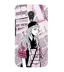 EPICCASE Brave Girl Mobile Back Case Cover For Moto G 2nd Gen (Designer Case)