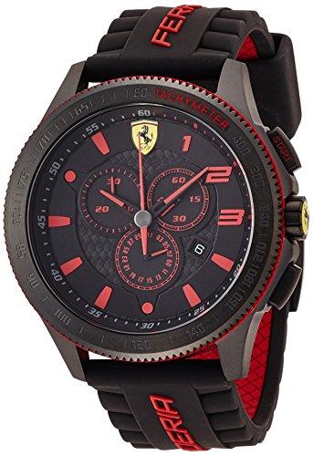 Ferrari - Orologio da polso, analogico al quarzo, silicone