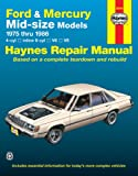 Ford & Mercury Midsize Sedans '75'86 (Owners' Workshop Manual)