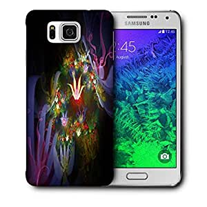 Snoogg Amazing Neon Flowers Printed Protective Phone Back Case Cover For Samsung Galaxy SAMSUNG GALAXY ALPHA