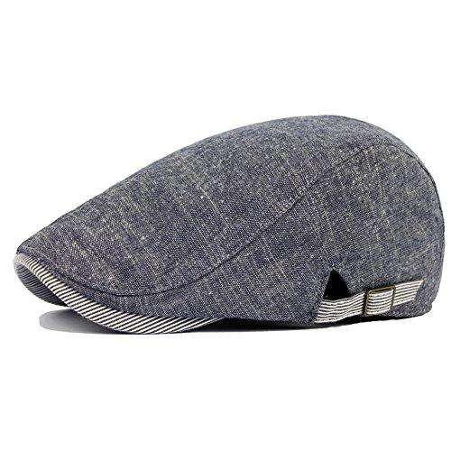 Qunson Men's Cotton Gatsby Ivy Irish Newsboy Cap Hat Grey (Grey)