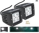 PR Fog Light Assembly White Light 4 Led Square 20 Watts FOG LIGHT/WORK LIGHT BAR SPOT BEAM OFF ROAD DRIVING LAMP 2 PC-Toyota Camry Type 1 (2002-2006)