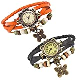 Combo of 2 VB-310 Vintage Butterfly Orange + Black