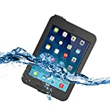 iPad Mini 3 Waterproof Case, Tethys iPad Mini / iPad Mini 2 / iPad Mini Retina Case [Lifetime Warranty] [Black] - Protective Waterproof Case Cover with Built-in Screen Protector fits Any Version of Apple iPad Mini / iPad Mini Retina and iPad Mini 3 with Minor Limitations - Slimmest Profile Cover with Capability of WaterPROOF, ShockPROOF, SandPROOF, DirtPROOF
