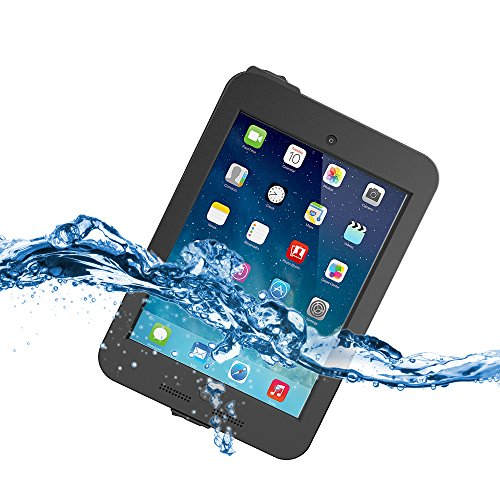 iPad Mini 3 Waterproof Case - Tethys iPad Mini Case / iPad Mini 3 Case / iPad Mini Retina Case [Lifetime Warranty] [Black] - Protective Waterproof Case Cover with Built-in Film Protector fits Any Version of Apple iPad Mini / iPad Mini Retina / iPad M