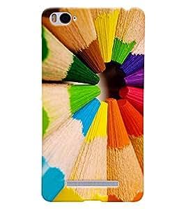 Printvisa 3D Printed Color Designer back case cover for Xiaomi MI 4I - D4381